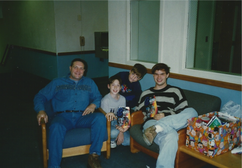 Me and my brothers with our dad, about a year before he died