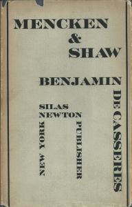 Mencken and Shaw by Benjamin De Casseres