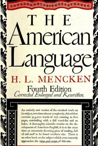 The American Language, by H. L. Mencken