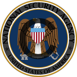 NSA seal with a superimposed copyright symbol for commentary purposes — not approved or endorsed by the NSA